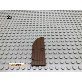 LEGO® 2Stk Ritter Castle Holz Tür Klein Brick Braun, Brown 2554 25