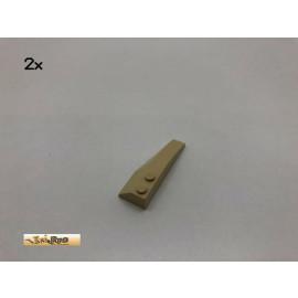 LEGO® 2Stk 6x2 Keil Bau Stein Basic Brick Beige, Tan 41748 23