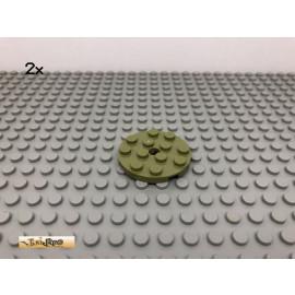 LEGO® 2Stk 4x4 Rund Platte Plate Olivgrün, olive green 60474 16