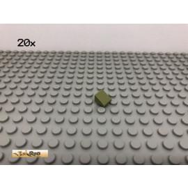 LEGO® 20Stk 1x1 30° Fliese Platte Plate Schrägstein Olivgrün,olive green 54200 3