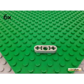 LEGO® 6Stk Technic Liftarm flach 1x3 alt-hellgrau 6632