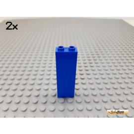 LEGO® 2Stk Säule Wand 1x2x5 blau 2454