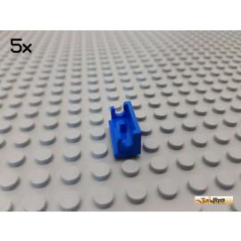 LEGO® 5Stk Platte 1x2 / Scharnier Unterteil blau 3937