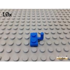 LEGO® 10Stk Platte 1x2 modifiziert mit 1 Griff / Winkel blau 4623