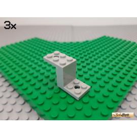 LEGO® 3Stk Winkelplatte 5x2x2 1/3 alt-hellgrau 6087