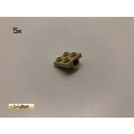 LEGO® 5Stk 2x2 Platte Achsloch einseitig Brick Beige, Tan 2444 bz