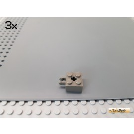 LEGO® 3Stk Technic 2x2 Rasterstein / Gelenk alt-dunkelgrau 40902