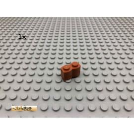 LEGO® 1Stk 1x2 Palisade Dunkelorange, Braun Orange 30136 44