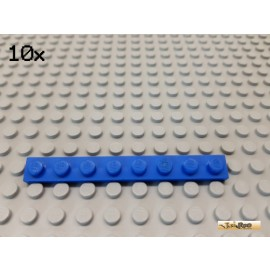LEGO® 10Stk Platte Basic 1x8 blau 3460