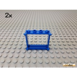 LEGO® 2Stk Fenster / Fensterrahmen 1x4x3 blau 3853