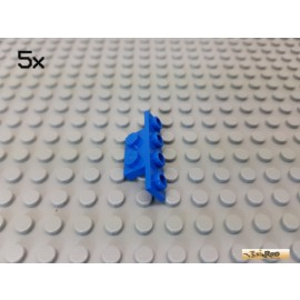 LEGO® 5Stk Platte / Stoßstange 1x2 - 1x4 blau 2436