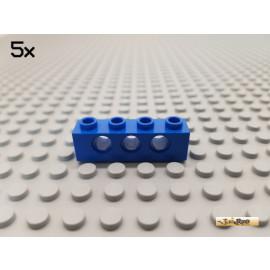 LEGO® 5Stk Technic Lochstein / Lochbalken 1x4 blau 3701