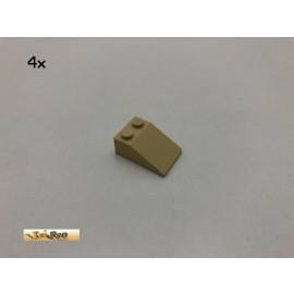 LEGO® 4Stk 2x3 33° Dachstein  Basic Brick Beige, Tan 3298 24