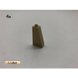 LEGO® 4Stk 1x2x3 75° Schrägstein Dachsteine Brick Beige, Tan 4460 cs