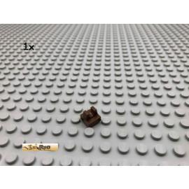 LEGO® 1Stk 1x1 mit Clip oben Braun, Brown 2555 175