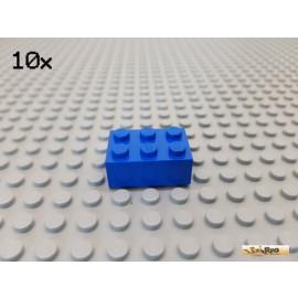 LEGO® 10Stk Stein Basic 2x3 blau 3002