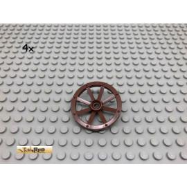 LEGO® 4Stk Kutschenrad Brick Rotbraun, Reddish Brown 4489 204