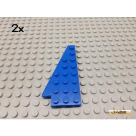 LEGO® 2Stk Keil / Flügelplatte 4x8 links blau 3933