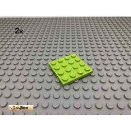 LEGO® 2Stk 4x4 Platte Plate Basic Limette, Lime 3031 66