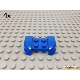 LEGO® 4Stk Kotflügel / Platte / Radkasten 2x4 blau 44674