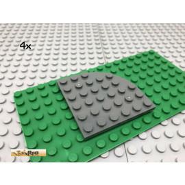 LEGO® 4Stk 6x6 Platte Viertelkreis rund Dunkel Grau,Dark Gray 6003