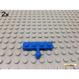 LEGO® 2Stk Platte 1x4 modifiziert Scharnier / Kupplung blau 3184
