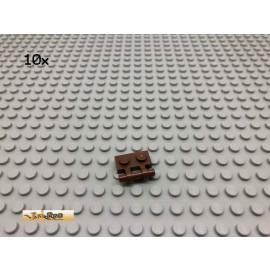 LEGO® 10Stk 1x2 Platte mit Griffstange Brick Braun, Brown 2540 133
