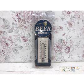 Thermometer Garten Beer Bier Shabby Vintage Frühling Deko