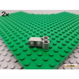 LEGO® 2Stk Technic Pin Verbinder 1x3 T-Stück alt-hellgrau 32557