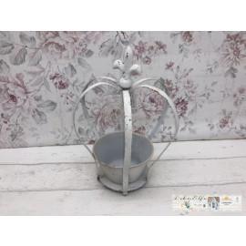 Blumenkrone Krone Deko Garten Weiß Shabby Vintage