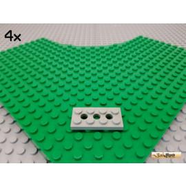 LEGO® 4Stk Technic Platte 2x4 mit Löcher alt-hellgrau 3709