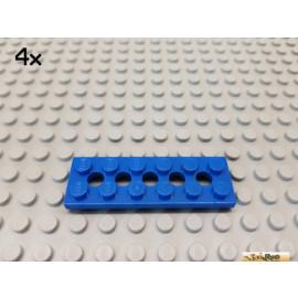 LEGO® 4Stk Technic Lochplatte / Platte 2x6 blau 32001