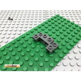LEGO® 4Stk 1x4 2x4 Winkelstein Kotflügel Dunkel Grau, Dark Gray 52038