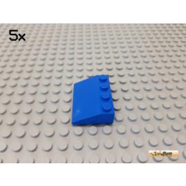 LEGO® 5Stk Dachstein / Schrägstein 33° 3x4 blau 3297
