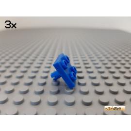LEGO® 3Stk Platte 2x2 modifiziert mit Pin / Unterseite blau 2476