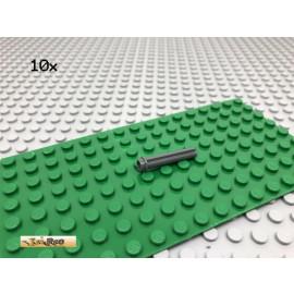 LEGO® 10Stk Technic Achse Dunkel Grau, Dark Gray 6587
