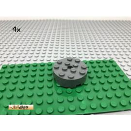 LEGO® 4Stk 4x4 Rundstein Rad Grau, Dark Gray 87081