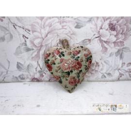 Deko Herz zum hängen Rosen Metall Shabby Fensterdeko Vintage