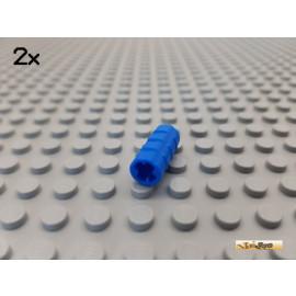 LEGO® 2Stk Technic Hülse geriffelt blau 6538