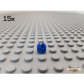 LEGO® 15Stk Schalthebel Unterteil / Antenne 1x1 blau 73587