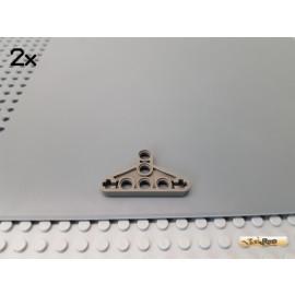 LEGO® 2Stk Technic Triangel Liftarm flach 3x5 alt-dunkelgrau 2905