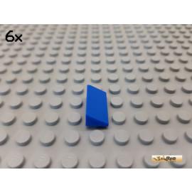 LEGO® 6Stk Fliese / Dachstein / Schrägstein 1x2 blau 25984