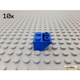 LEGO® 10Stk Dachstein / Schrägstein 2x2 negativ 45° blau 3660