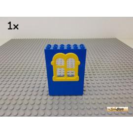 LEGO® 1Stk Fenster / Fensterrahmen 2x6x7 blau / gelb 637