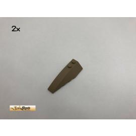 LEGO® 2Stk 6x2 Keilstein Brick Dunkelbeige, Dark Tan 41748 13
