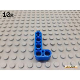 LEGO® 10Stk Technic Liftarm 2x4 90° blau 32140