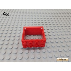 LEGO® 4Stk Fenster / Fensterrahmen 2x4x3 rot 4132