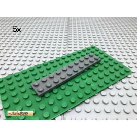 LEGO® 5Stk 2x10 Platte flach Plate Basic Dunkel Grau, Dark Gray 3832