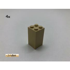 LEGO® 4Stk 2x2x3  Säulen Brick Beige, Tan 30145 cv