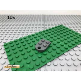 LEGO® 10Stk 2x3 Platte mit Öse abgerundet Dunkel Grau, Dark Gray 3176
